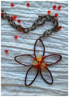 Simple Flower pendant by PoppyLady