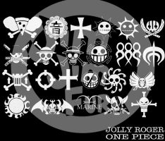 One Piece Jolly Roger Brushes by jimjimfuria1