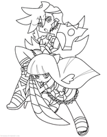FREE LINEART - Panty and Stocking by BreAuna