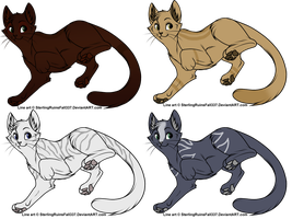Cat Adoptables CLOSED by SapphireSquire