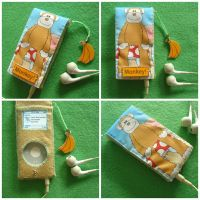MonkeyPod - Monkey iPod case by Mimi-Mushroom