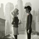 Paperman: PeterxGwen by Luciand29