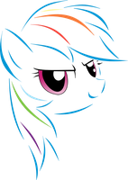 Rainbow Dash line vector by ShySolid