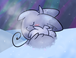 Sleeping in the Snow by 0Shiny0