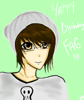 HAPPY BIRTHDAY FAG -HEART- by Xzern