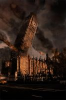 London Under A Rain Of Meteors by overdead4