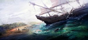 Galleon by cesarsampedro