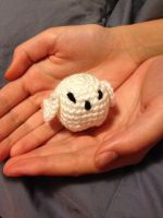 Tiny Amigurumi Snowy Owl by Irako-of-the-Desert