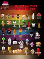 Pasta City Ice Cream Poster by MrAngryDog