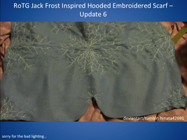 RotG Jack Frost Inspired Hooded Embroidered Scarf by hinata42691