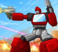 Ironhide courage by OmegaSupreme