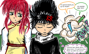 Frustrated Hiei by Anime17
