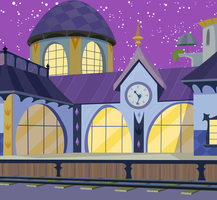 Canterlot Train Station by Reginault
