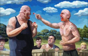 Bare Knuckle Brawl by Art-of-Eric-Wayne