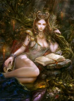 Forest demoness 2 by Allnamesinuse