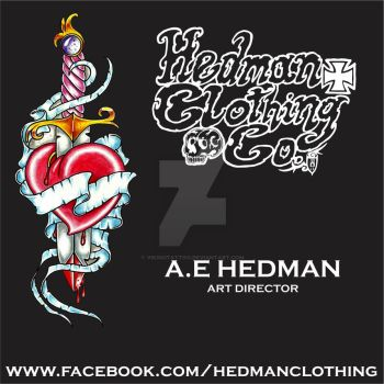 Hedman Clothing Co. Business card and sticker. by vikingtattoo