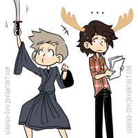 SPN: I have a sword and it's awesome by Usagiko-JOvi
