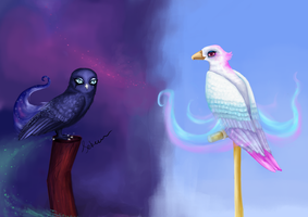 My little royal birds sisters by Soirema-pl