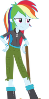 Equestria Girls Rainbow Dash (Scootaloo's clothes) by SketchMCreations