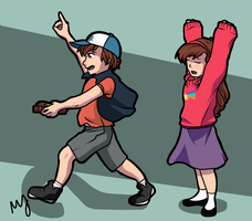 Gravity Falls [Colored] by Mababwion1