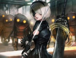 Nier Automata 2B by Timkongart