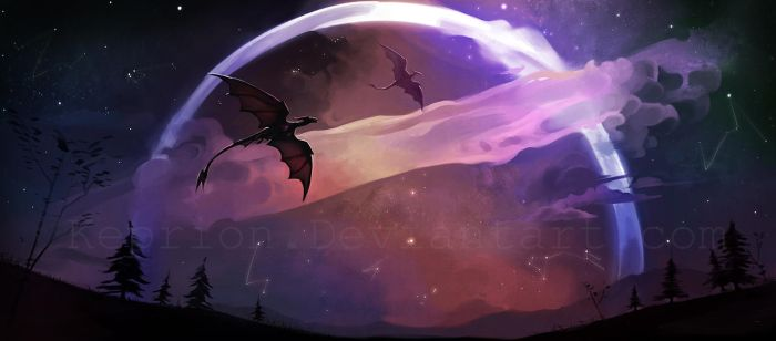 Galaxy Dragons by Keprion
