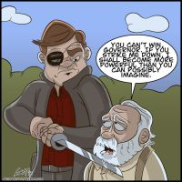 The Governor vs Hershel (Spoiler) by geogant