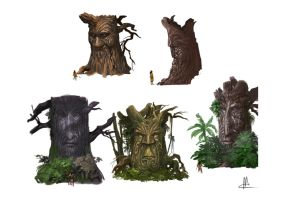 tree spirits-concepts by TheBeke