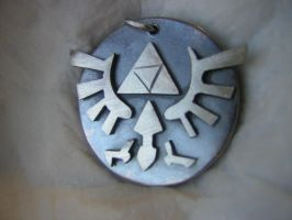 Triforce pendant in silver by LARvonCL