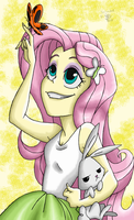 Fluttershy Poster (Rainbow Rocks Credits) by davidsfire