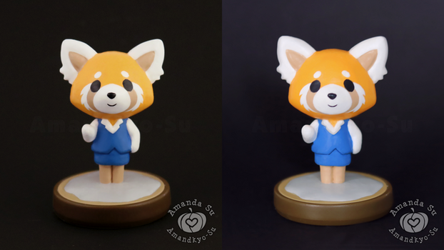 Retsuko Custom Amiibo, New VS Old by Amandkyo-Su