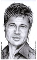 Brad Pitt Pencil Portrait by GonzaloCumini
