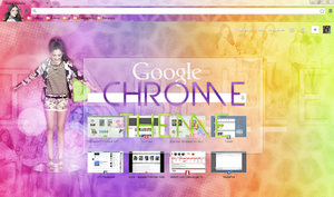 Google Chrome Theme {Isabelle Fuhrman} by Brenlala