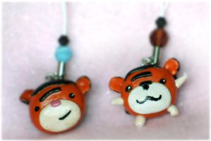 Tigers Mobile Phone Charms by arihoma