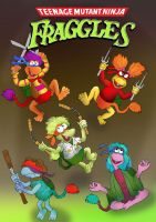 Teenage Mutant Ninja Fraggles by raggyrabbit94