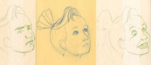 Girl's Expressions by Inaaca