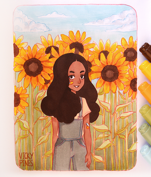 Sunflowers by VickyPines