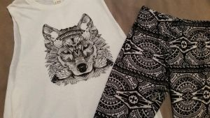 O Neil Tribal Wolf Tank and  Hot Kiss Leggings! by Vesperwolfy87