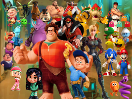Wreck it Ralph and the Gang Bonus Wallpaper by 9029561