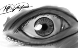 My First Realistic Eye by KingJude