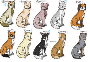 FREE Canine Adoptables 2 --CLOSED-- by Roxie-the-Charizard