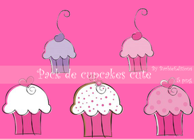 Pack de cupcakes cute by BarbieEditionsYT