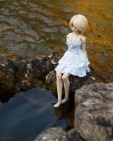Girl at the waterside by Miko-Bura