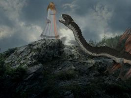 Glaurung and Nienor by Erevia