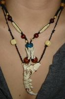 Animal Bone necklace  2008 by orobasart