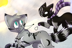 :COLLAB: In the snow by Darkstar-9-25