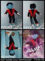 X-Men Nightcrawler Plush by Heliotrope-Housecat