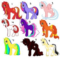 My Little Pony: FiM Adoptables by AnnieHyena