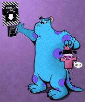 Sulley and Boo - Colored by reed682