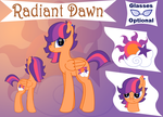 Radiant Dawn Reference Sheet by CraftyAllie